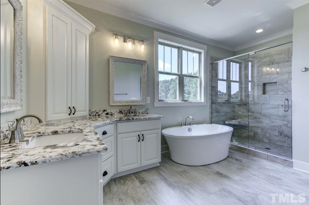 spalike master suite in a fuquay varina new construction home for sale