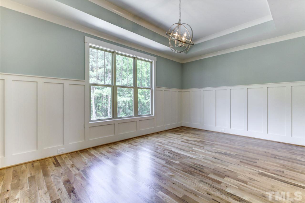 elegant dining room in a fuquay varina new construction home