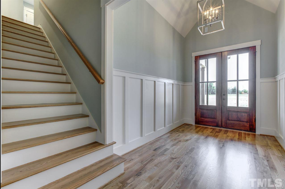 beautiful entryway in a fuquay varina new construction home