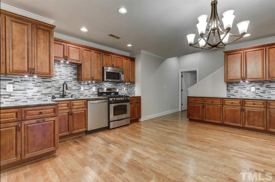 massive kitchen at 14550 NC 210 Highway, an Angier luxury home for sale