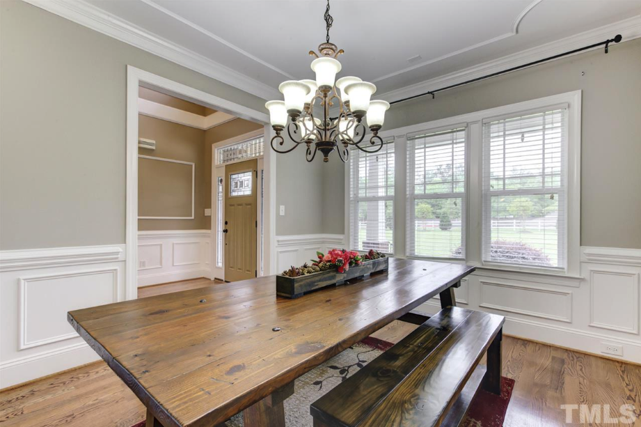formal dining room of 14550 NC 210 Highway, an Angier luxury home for sale