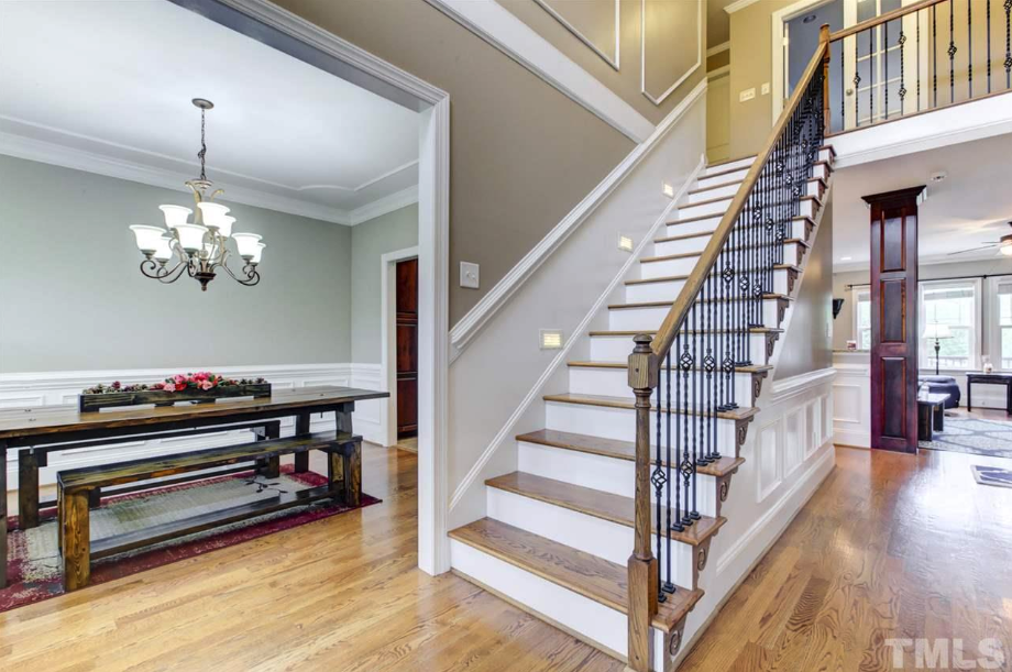 beautiful entryway at 14550 NC 210 Highway, an Angier luxury home for sale