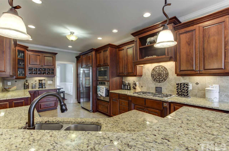 beautiful gourmet kitchen of 14550 NC 210 Highway, an Angier luxury home for sale