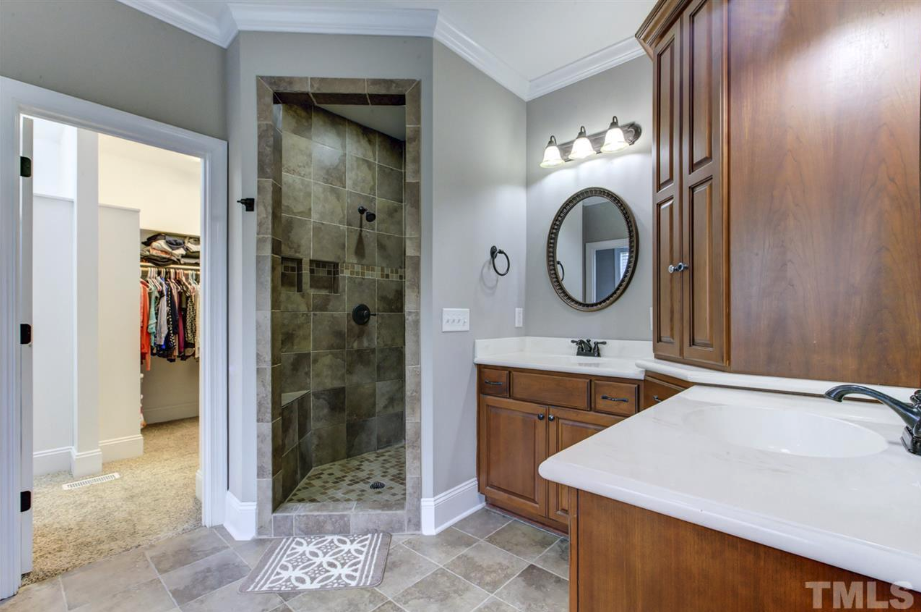 luxury master bath of 14550 NC 210 Highway, an Angier luxury home for sale