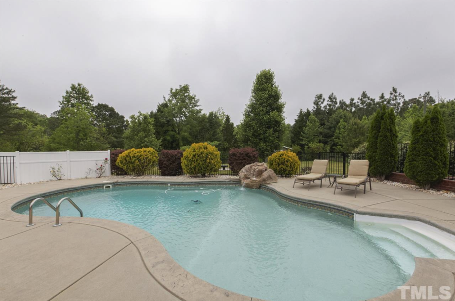 large swimming pool at 14550 NC 210 Highway, an Angier luxury home for sale