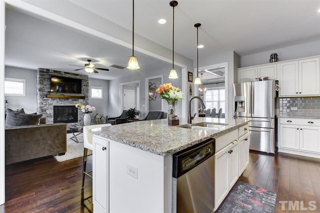 gourmet kitchen of 345 rhoda lilley drive in fuquay varina