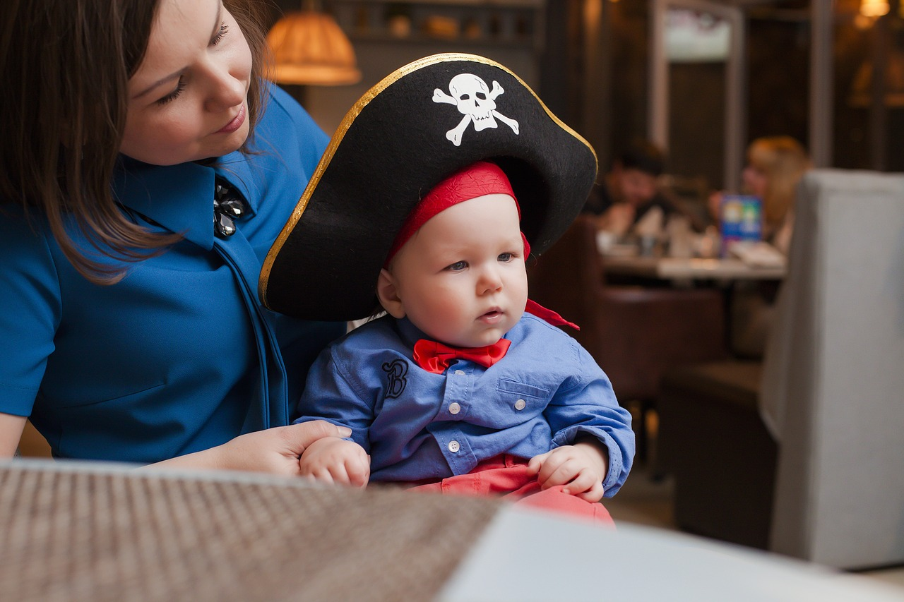 pirate baby with mom