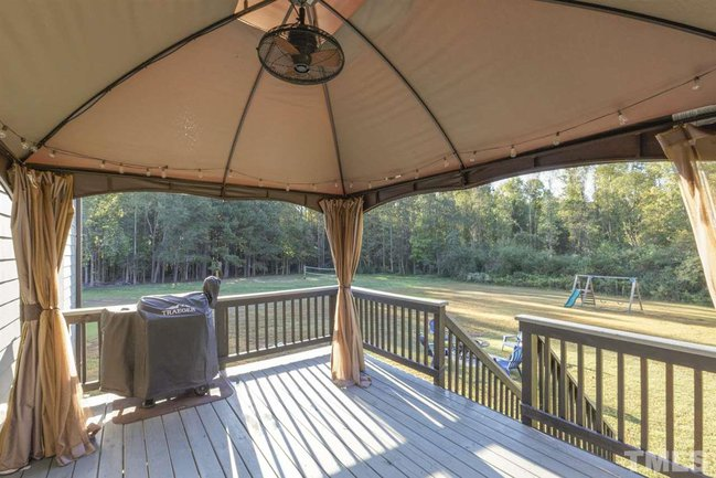 covered back deck and lawn