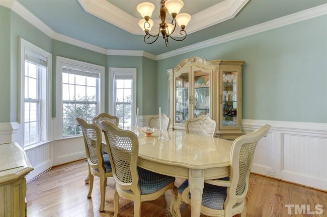 formal dining room of 1418 old bramble lane in fuquay varina