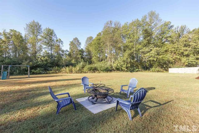 fire pit and wooded views
