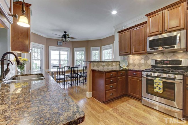 gourmet kitchen of 1418 old bramble lane in fuquay varina