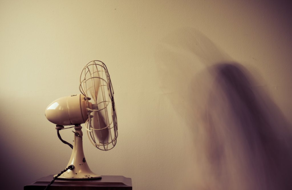 cooling off with a fan