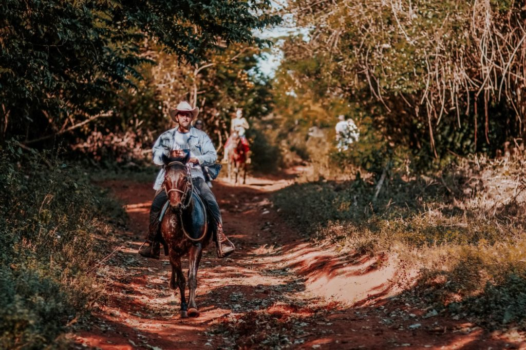 Riders on horseback enjoy the trails that Raven Rock State Park has to offer.